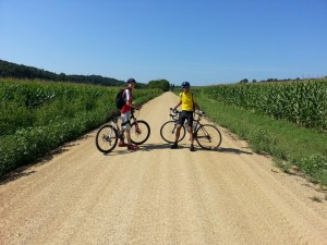 A ride through the Wisconsin countryside wouldn't be complete without walls of corn for miles and miles!